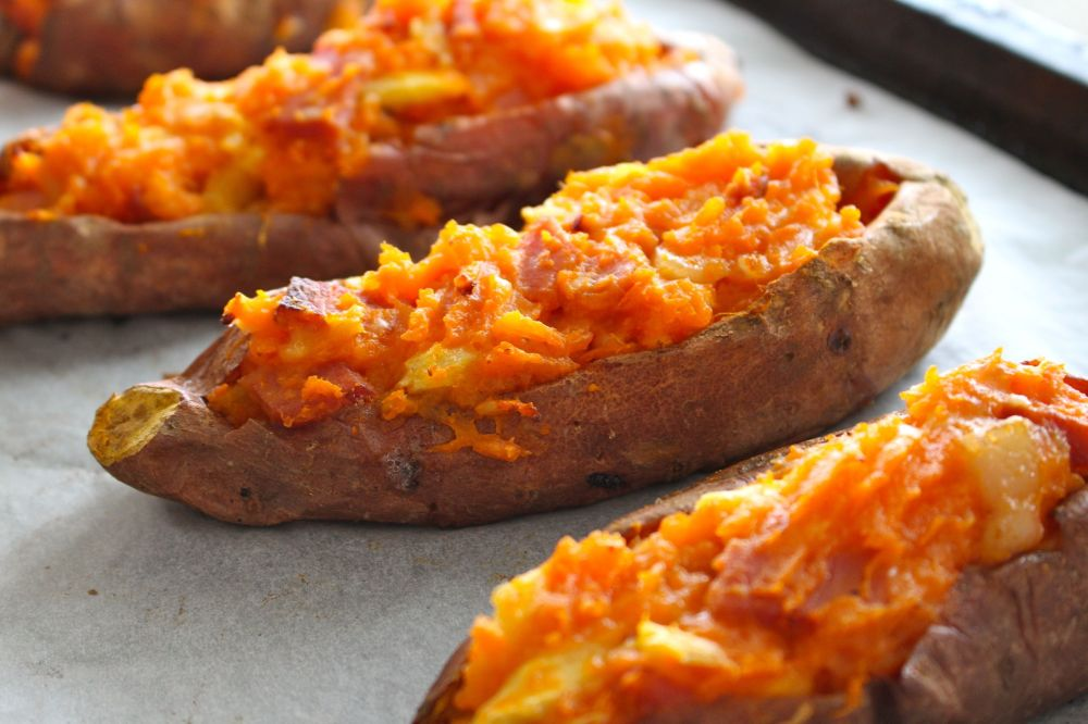 Hawaiian Stuffed Sweet Potato