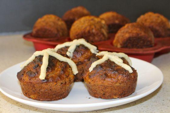 Hotcross Buns – Grain Free, Gluten Free & Sugar Free