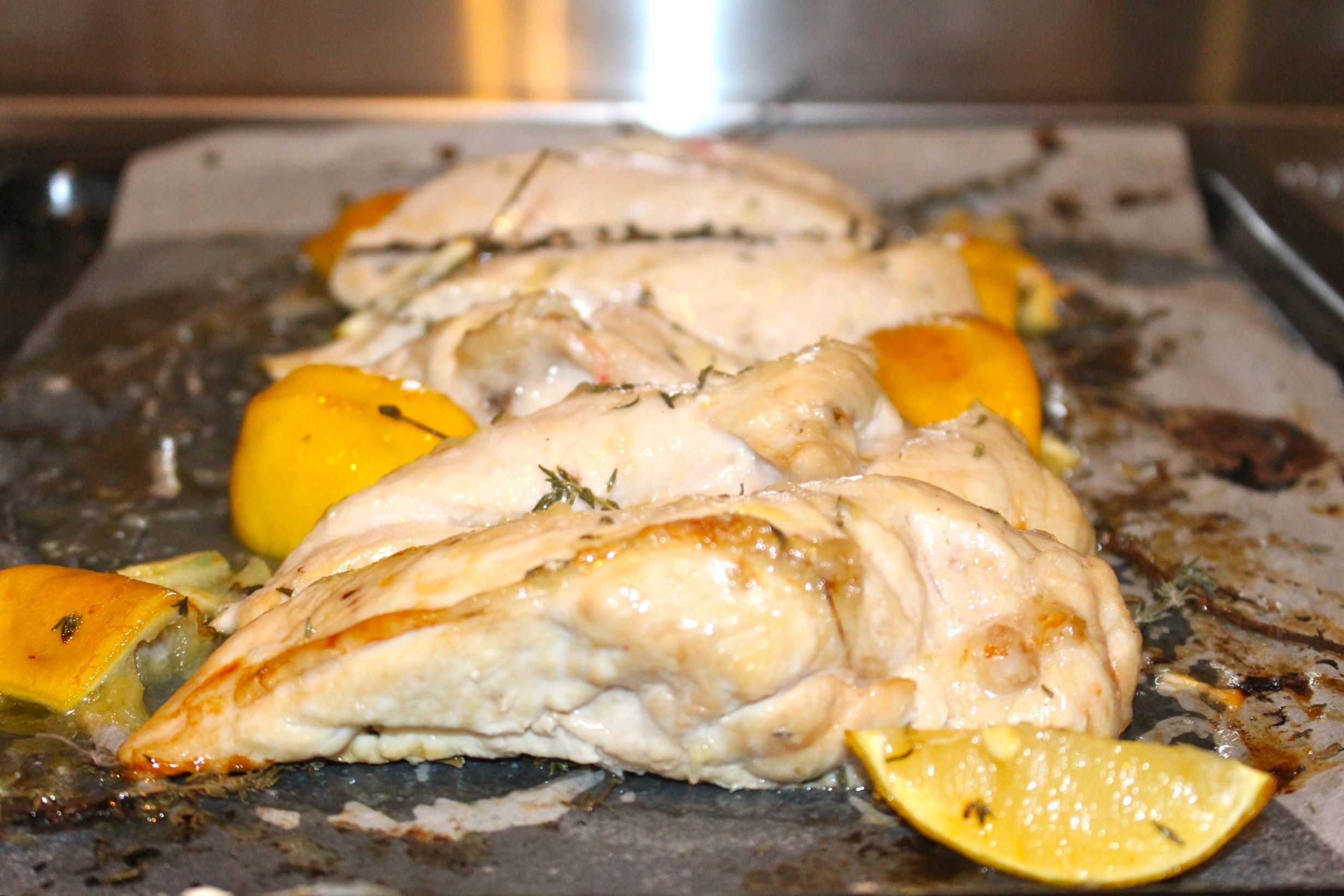 Lemon & Garlic Roasted Chicken Breast