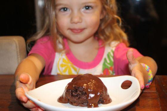 Mackenzie with Chocolate Pudding