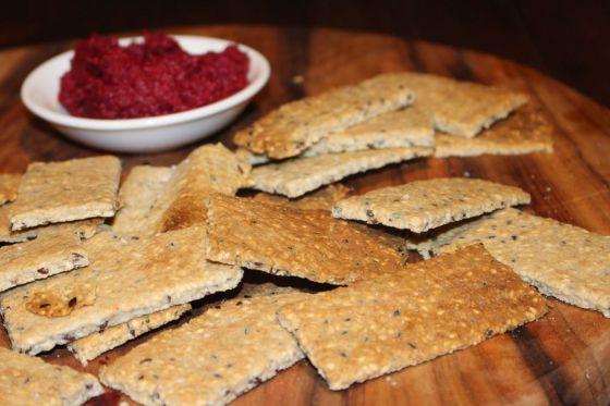 Rosemary & Sea Salt Seed Crackers