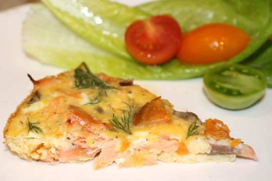 Salmon & Sweet Potato Frittata